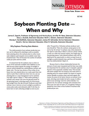 Soybean Planting Date - When and Why
