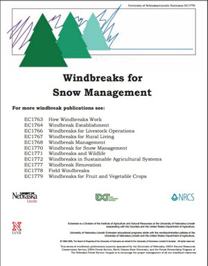Windbreaks for Snow Management