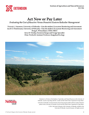 Act Now or Pay Later: Evaluating the Cost of Reactive Versus Proactive Eastern Redcedar Management