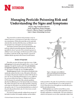 Managing the Risk of Pesticide Poisoning and Understanding the Signs and Symptoms