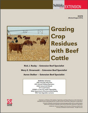 Grazing Crop Residues with Beef Cattle