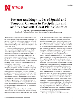 Patterns and Magnitudes of Spatial and Temporal Changes in Precipitation and Aridity across 800 Great Plains Counties (ec3025)
