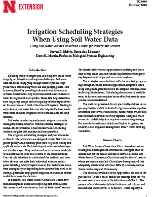 Irrigation Scheduling Strategies When Using Soil Water Data
