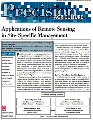 Applications of Remote Sensing in Site-Specific Management