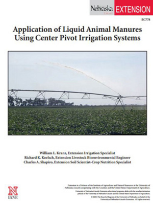 Application of Liquid Animal Manures Using Center Pivot Irrigation Systems