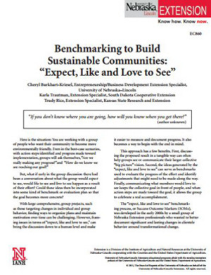 Benchmarking to Build Sustainable Communities