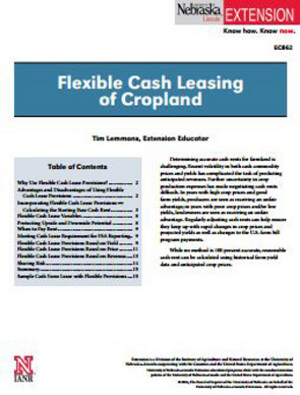 Flexible Cash Leasing of Cropland