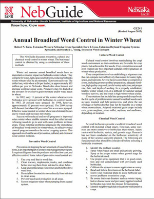 Annual Broadleaf Weed Control in Winter Wheat