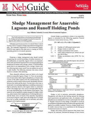 Sludge Management for Anaerobic Lagoons and Runoff Holding Ponds