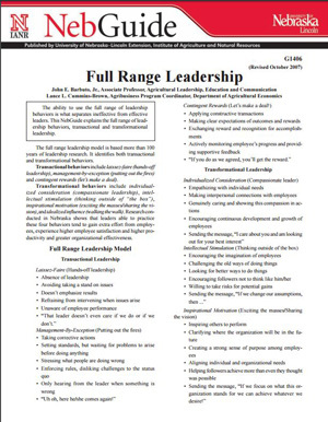Full Range Leadership