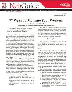 77 Ways To Motivate Your Workers