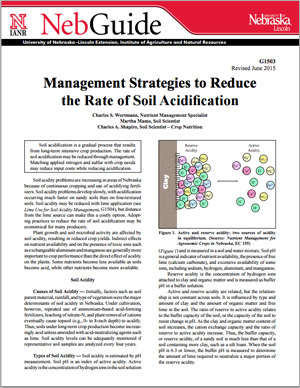 Management Strategies to Reduce the Rate of Soil Acidification
