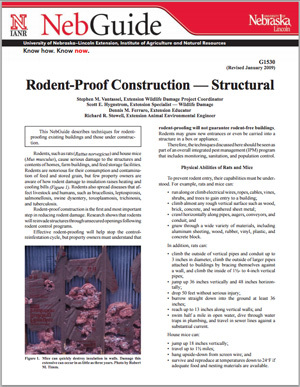 Rodent-Proof Construction - Structural