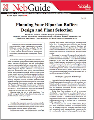 Planning Your Riparian Buffer