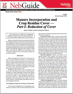 Manure Incorporation and Crop Residue Cover — Part I