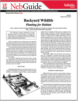 Backyard Wildlife Planting for Habitat