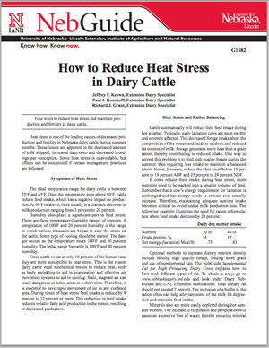 How to Reduce Heat Stress in Dairy Cattle