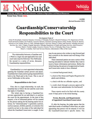 Guardianship Responsibilities to the Court