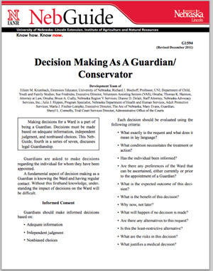 Decision Making as a Guardian