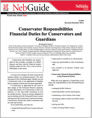 Guardianship/Conservatorship Financial Responsibilities