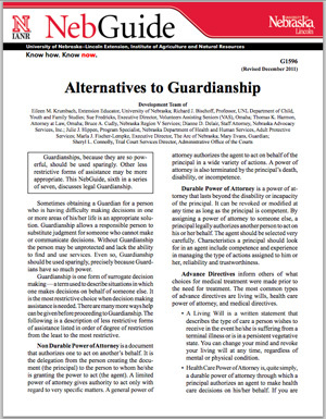 Alternatives to Guardianship