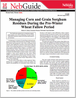 Managing Corn and Grain Sorghum Residues During the Pre-Winter Wheat Fallow Period