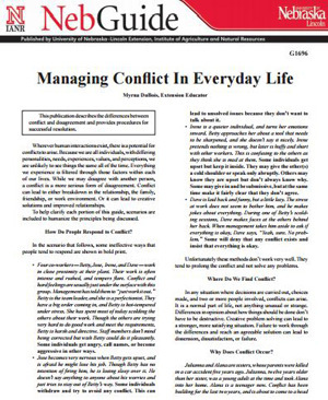 Managing Conflict In Everyday Life