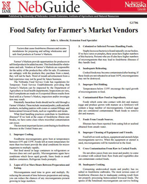 Food Safety for Farmer's Markets