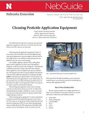 Cleaning Pesticide Application Equipment