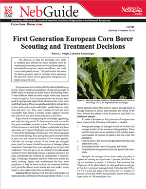 First Generation European Corn Borer Scouting and Treatment Decisions