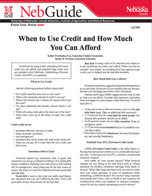 When to Use Credit and How Much You Can Afford