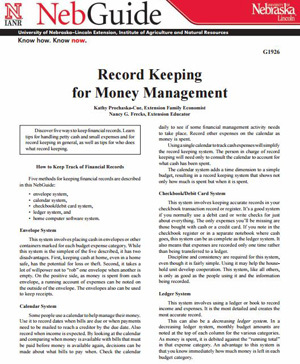 Record Keeping for Money Management