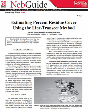 Estimating Percent Residue Cover Using the Line-Transect Method