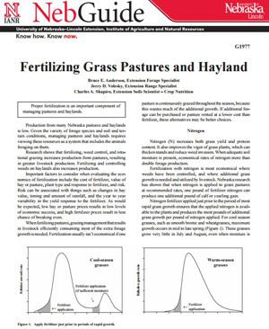 Fertilizing Grass Pastures and Hayland