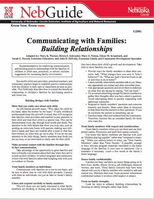 Communicating with Families