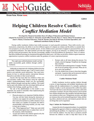 Helping Children Resolve Conflict