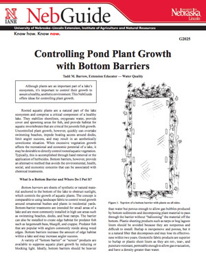 Controlling Pond Plant Growth with Bottom Barriers