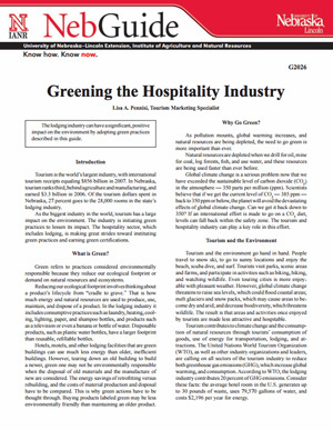Greening the Hospitality Industry