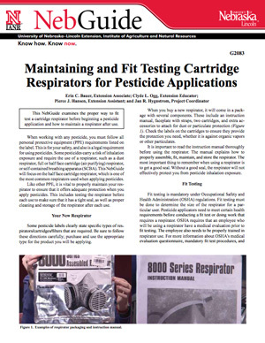 Maintaining and Fit Testing Cartridge Respirators for Pesticide Applications