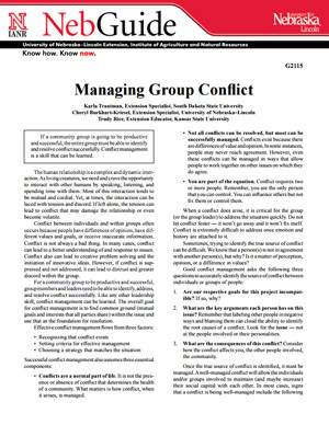 Managing Group Conflict