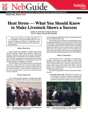 Heat Stress — What You Should Know to Make Livestock Shows a Success