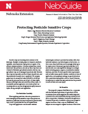 Protecting Pesticide Sensitive Crops (G2179)