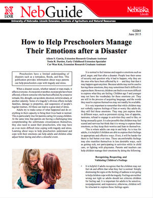 How to Help Preschoolers Manage Their Emotions after a Disaster