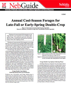 Annual Cool-Season Forages for Late-Fall or Early-Spring Double-Crop