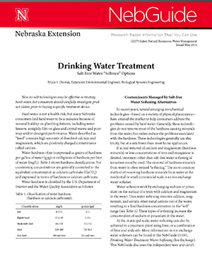 "Drinking Water Treatment: Salt-Free Water ""Softener"" Options (G2275)"