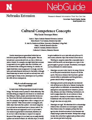 Cultural Competence Concepts (G2278)