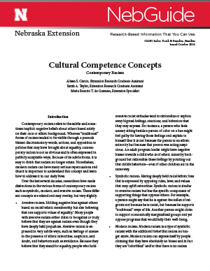 Cultural Competence Concepts (G2281)