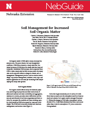 Soil Management for Increased Soil Organic Matter (G2283)