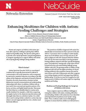 Enhancing Mealtimes for Children with Autism: Feeding Challenges and Strategies