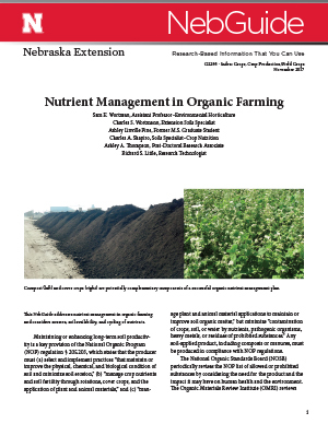 Nutrient Management in Organic Farming (G2295)